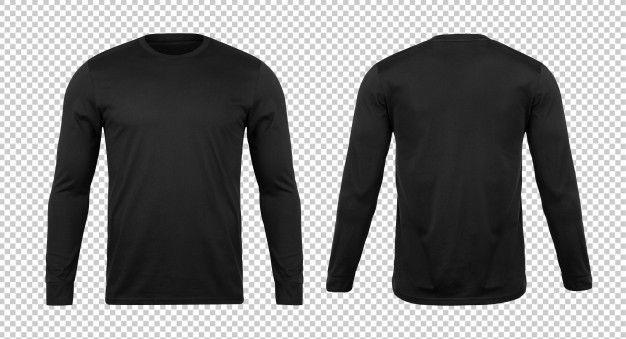 Blank Black Long Sleve Tshirt Mockup Template T Shirt Design Template Tshirt Mockup Blank Black
