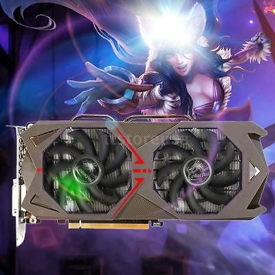 ﹩351.59. Colorful NVIDIA GeForce GTX 1060 6GB 192bit Esport Graphics Card DVI+3*DP C2O8    ISBN - Does not apply, GPU - Geforce GTX 1060, Core structure - GP106, Core technology - 16nm, CUDAs stream processors - 1280, Memory clock (MHz) - 8008, Standard memory config - 6GB GDDR5, Memory interface width - 192-bit, Bus Support - PCIe 3.0, Display port - DVI+HDMI+3*DP, Maximum digital resolution - 7680*4320@60Hz,