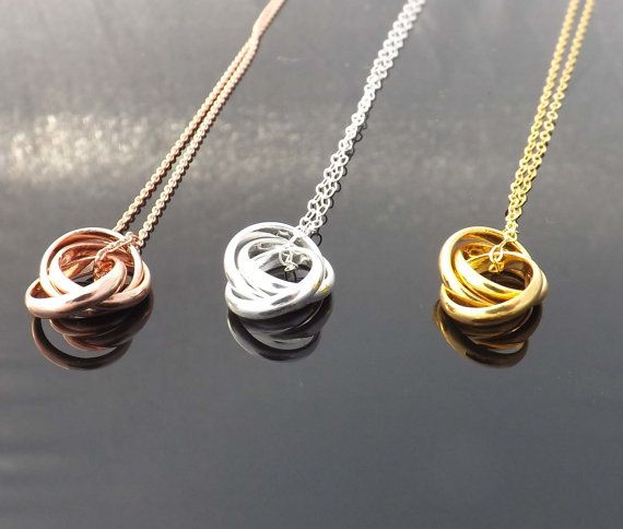 Ring infinity necklace Three ring necklace by jewelrycraftstudio, $27.50