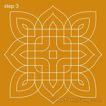 8x8 Dot Rangoli Step 3