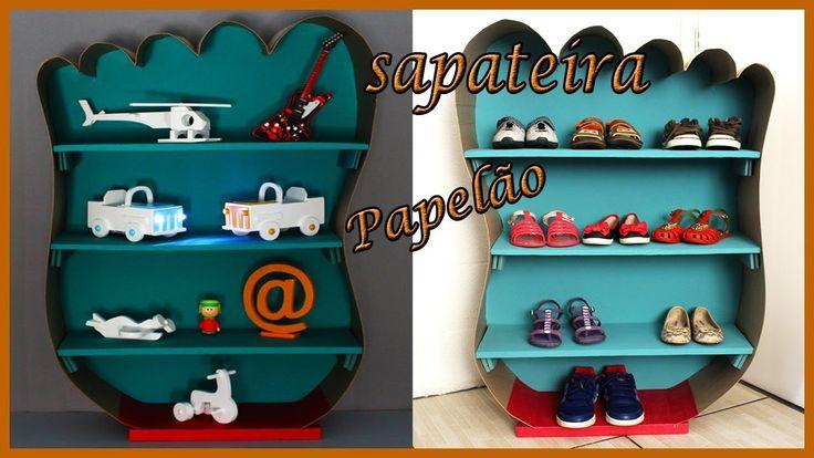 Sapateira Infantil De Papelão- DIY móveis de Papelão
