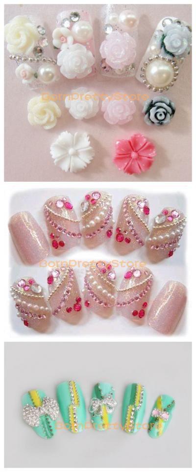 $0.99 100cm Elegant Silver Beads Line Chain Nail Art Decoration - BornPrettyStore.com