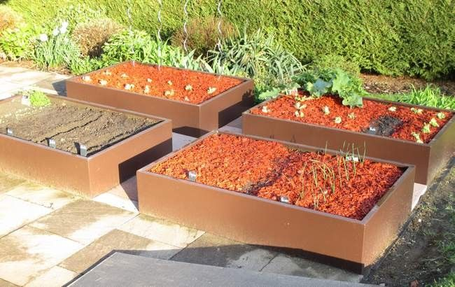 44 best images about potager en carr design on pinterest for Potager sur terrasse