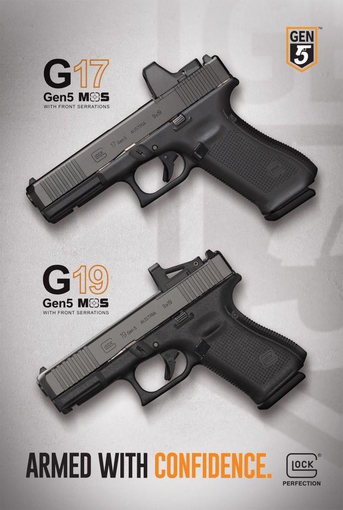 new from glock glock 45 and two gen 5 mos pistols firearms