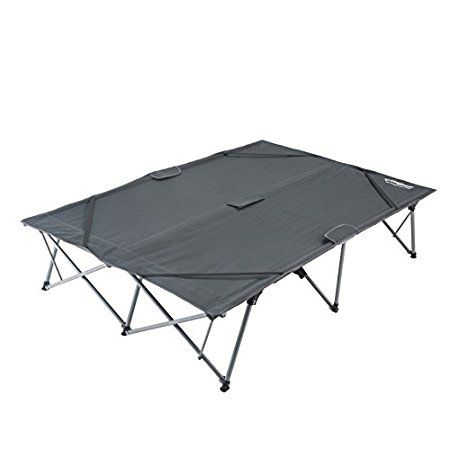 KingCamp Double Camping Cot – 2 Person Oversized Bed  The KingCamp Double Camping Cot is an oversized tool with a lot of space for two adults. It is nicely packable and it requires no assembly. Read more below. #DoubleCots, #DoubleCampingCots, #Cots