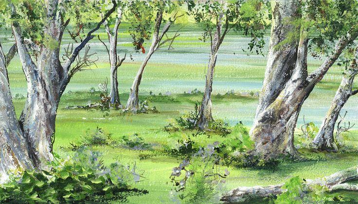 Trees on the edge - coast waters.