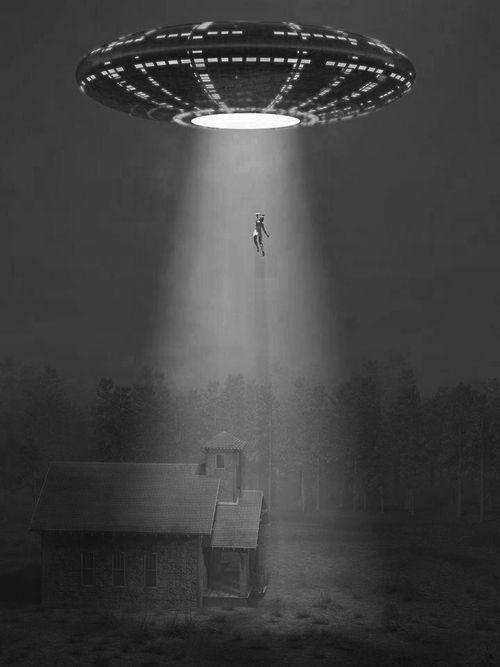 Martians abducting a law-abiding citizen.