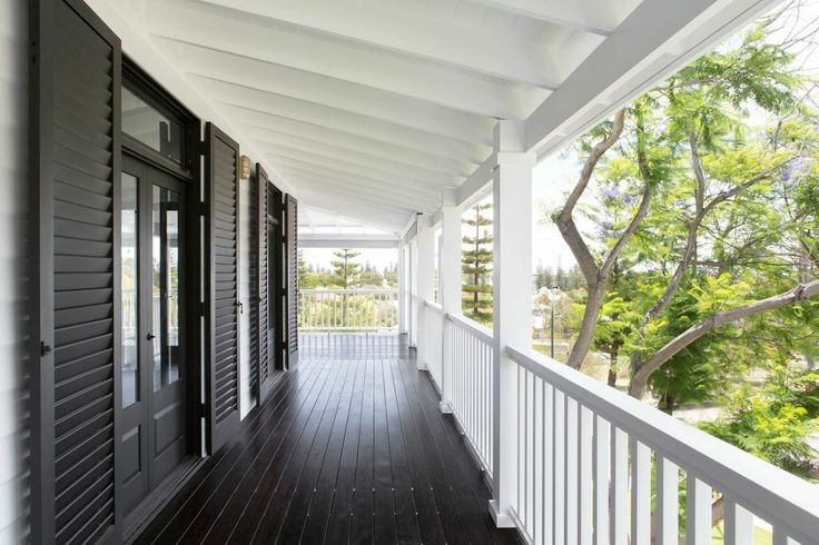 Deep verandas protect the home from searing summer heat and strong westerly winds.