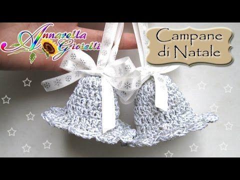 Tutorial Campane di Natale all'uncinetto | How to crochet bells