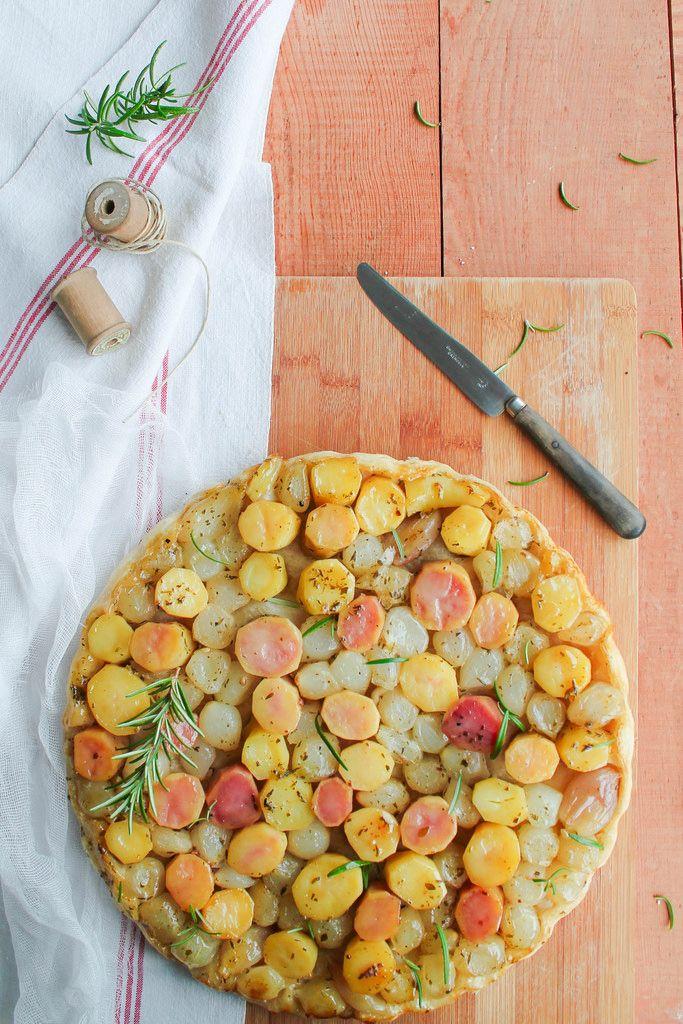Tarte tatin de pommes de terre