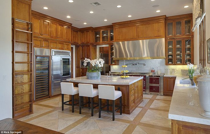 Cook up a storm: The chef's kitchen is the prefect spot for casual family meals...