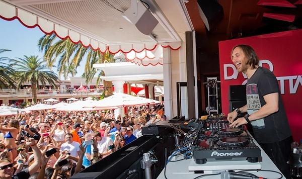 David Guetta performs at Encore Beach Club in Las Vegas