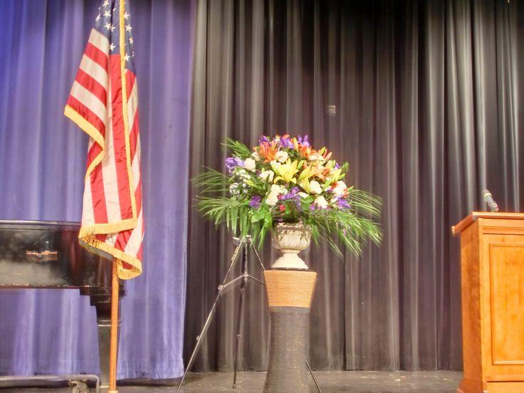 Flower-Mikan Graduation stage-flower arrangement
