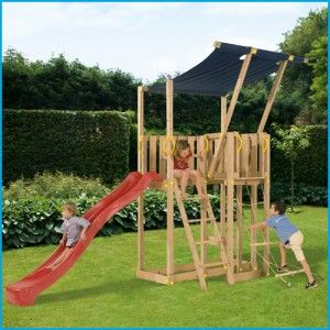 Blue Rabbit Mezzanine - Wooden Climbing Frames for children