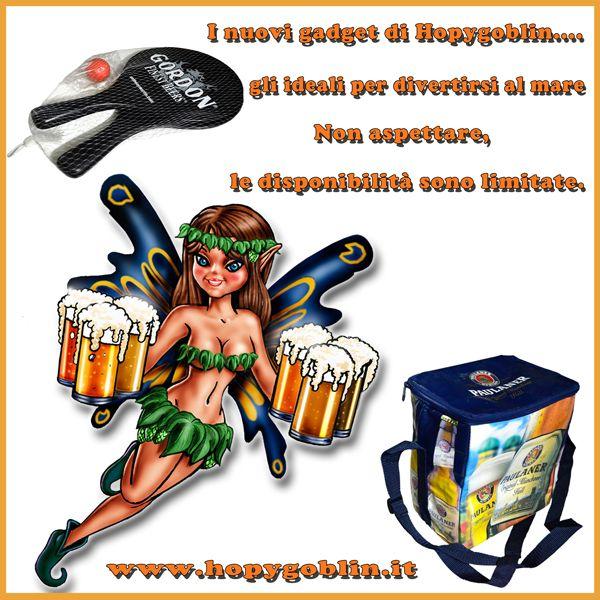 I nuovi gadget di Hopygoblin.... Ideali per le vostre giornate di mare....Disponibilità limitata... http://hopygoblin.it/gadget.html #hopygoblin #beershop #birra #gadget #racchetta #gordon #borsatermica #paulaner #mare