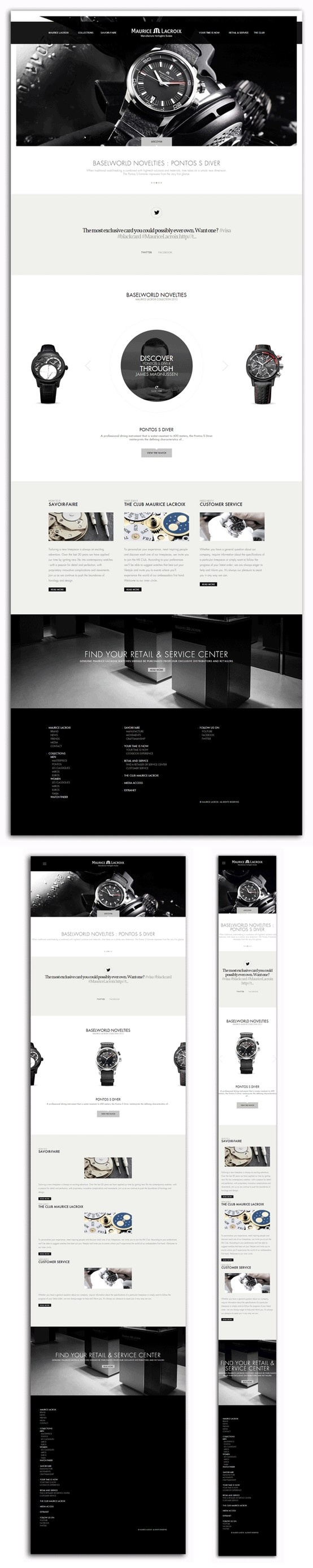 mauricelacroix.com Diseño: 5  Responsive: 4  Navegación: 5  Contenido: 4  Usabilidad: 4