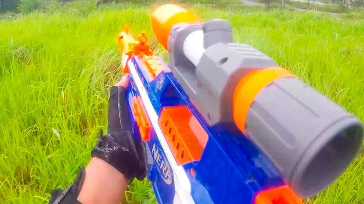 Nerf War Action Movies First Person Shooter 12 Nerf Guns Assassin's Blin...