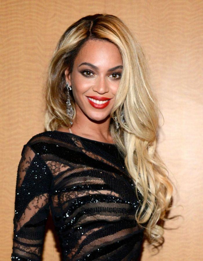 Cortes De Pelo Mujer Modernos En La Alfombra Roja Beyonce Con - Cortes-de-pelo-largo-modernos