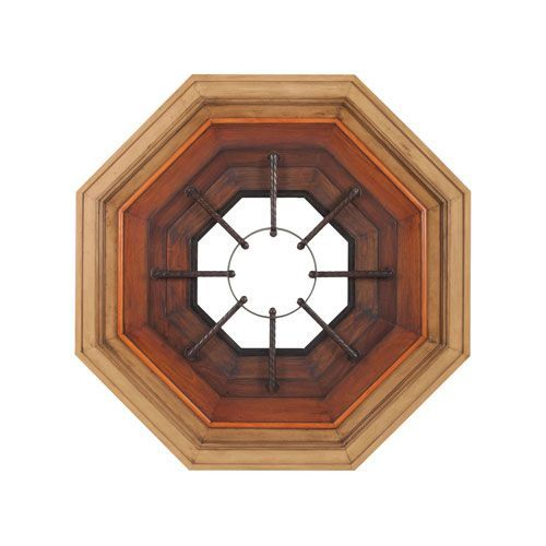 Bombardier Ombre Stain Combination Octagon Mirror