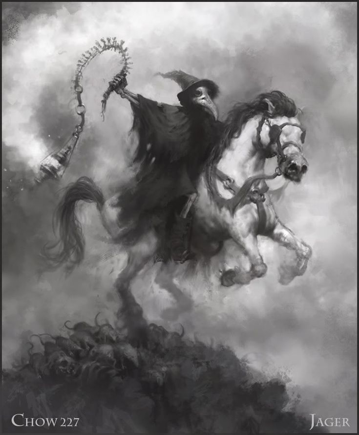 Pestilence, horseman of the apocalypse.