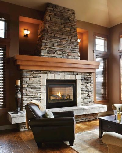 """35"""" Natural Gas Direct-Vent Fireplace with Standard Barrier Screen (Insert Only)"""