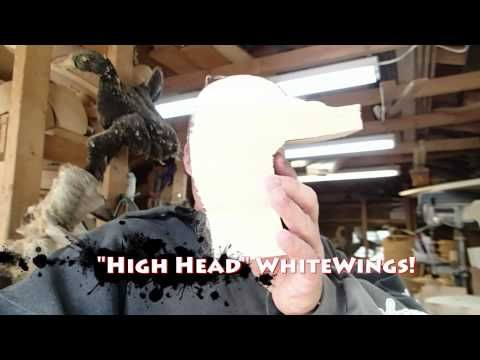 Decoy Carving Whitewing Scoter part 1                                                                                                                                                     More