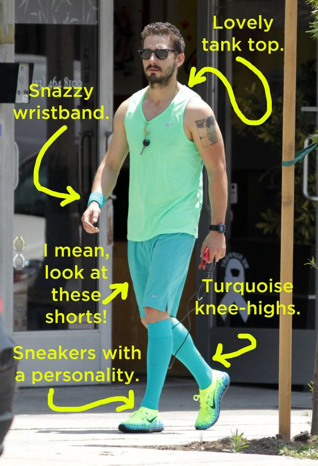 Shia LaBeouf's Workout Gear Is Incredibly Bright And Colorful