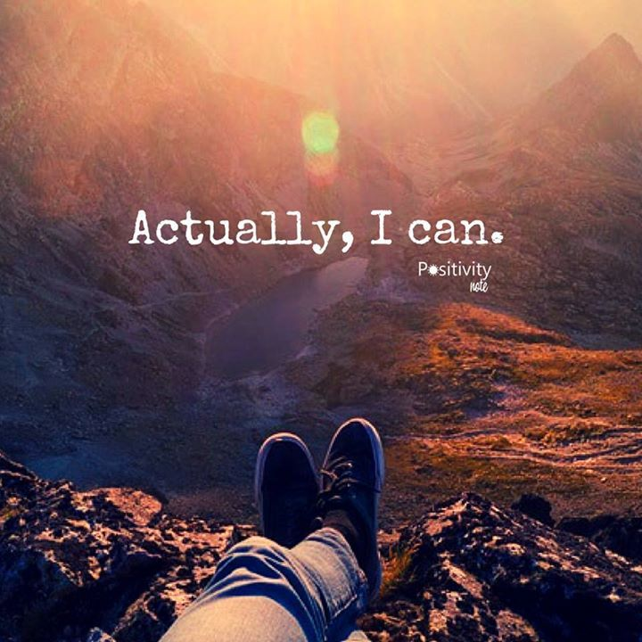 Inspirational Quotes On Freedom: Actually I Can. #positivitynote #positivity #inspiration