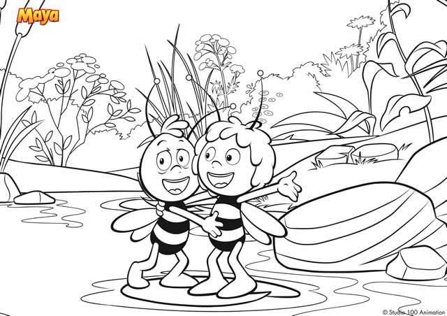 Activités printable gratuits à imprimer Maya l'abeille #maya #abeille #dessinanime #coloriage #activites http://www.papa-blogueur.fr/coloriages-et-activites-imprimer-maya-labeille  coloriage-maya-l-abeille