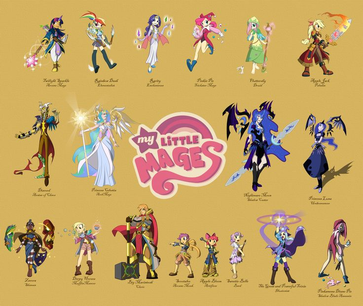 My Little Mages Complete by ~Didj on deviantART