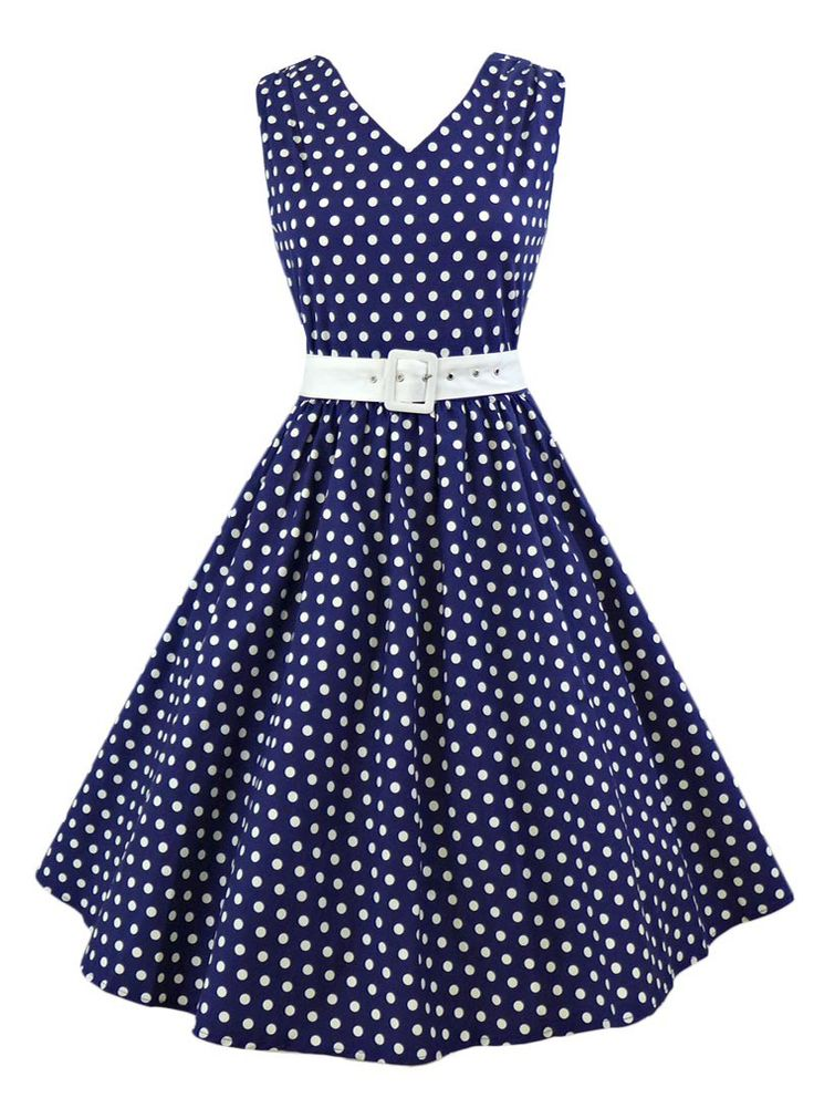 Robe mi-longue Rockabilly Vintage Années 50 Dolly And Dotty