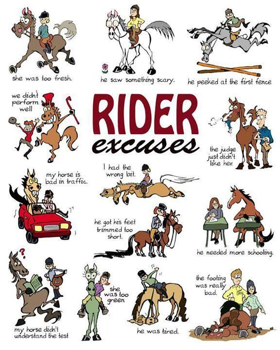 Excuses, excuses! Yep I think I've used a few of these!!