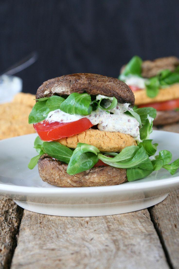 Lentil portobello burger