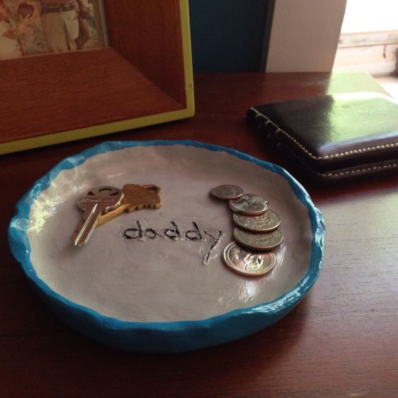 Make a Fathers Day Clay Catchall Tray | Guidecentral