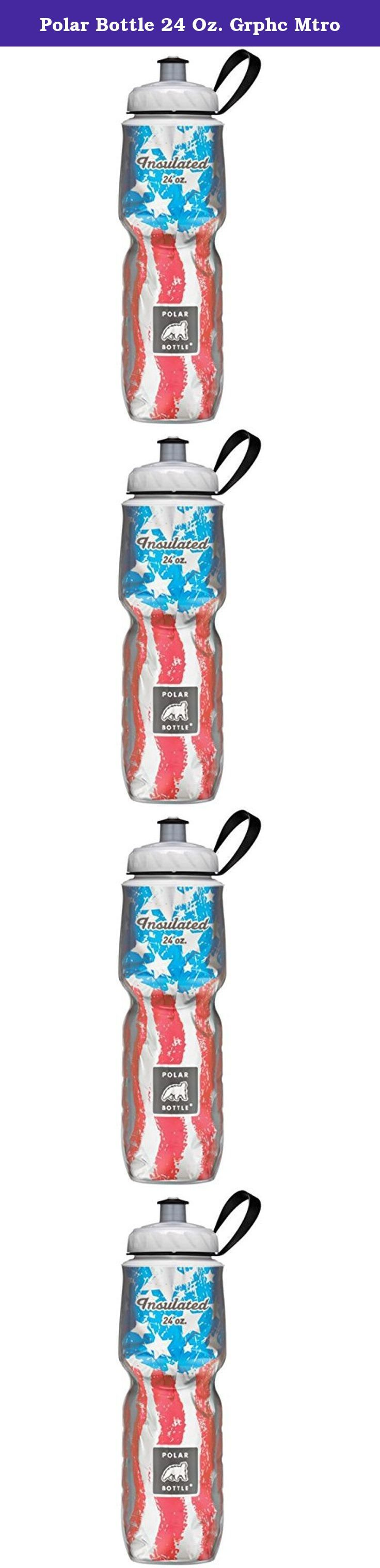 Polar Bottle 24 Oz. Grphc Mtro. Drinking water stays cool in the insulated sport water bottle. The double wall construction and reflective foil layer form a thermal barrier that effectively insulates. Fits a standard bicycle cage. Removable valve for easy cleaning. Dishwasher safe.