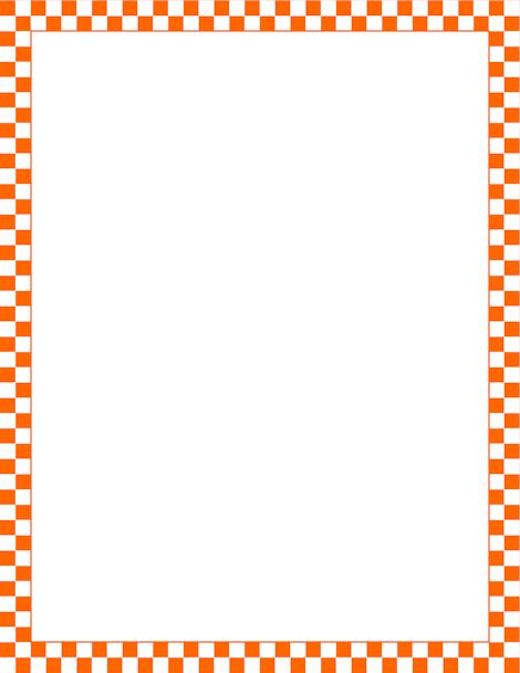 Printable orange and white checkered border. Free GIF, JPG, PDF, and PNG downloads at http ...