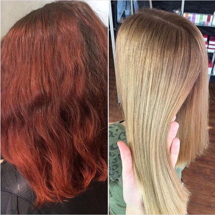 Rot auf Blond ging schon immer, wäre aber mit ordentlichen Strapazen verbunden. Mit OLAPLEX konnte dieses wunderschöne Blond gezaubert werden – ohne Haarschädigung!