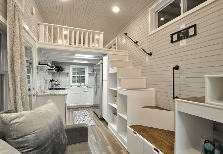 A gorgeous luxury tiny house with two bedrooms and a gourmet kitchen!