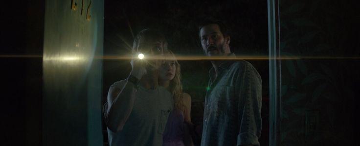 Keanu Reeves, Elle Fanning, and Charles Baker in The Neon Demon (2016)