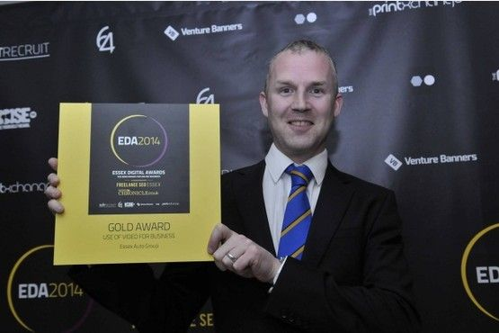 Essex Auto Group struck gold for Use of Video for Business at the inaugural Essex Digital Awards.
