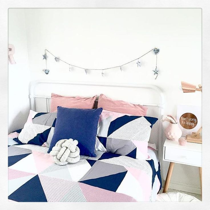 Here is a stunning bedroom #styled perfectly by @the_4224_collective featuring @kmartaus #copper lamp, side table , a new dusty pink vase and a very new Jasper cover set. @the_4224_collective I'm really loving this cover, you have done a beautiful job in here.