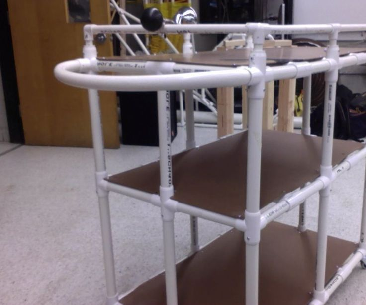 In this instructable you will learn exactly how to build the perfect teacher cart out of PVC pipes and composite board.