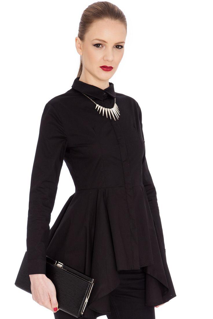 PEPLUM BUTTONED SHIRT #shirt #citygoddess #citygoddesswholesale #wholesale #fashion #onlineboutique #madeinuk