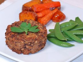 Roasted Mushroom and Lentil Cakes