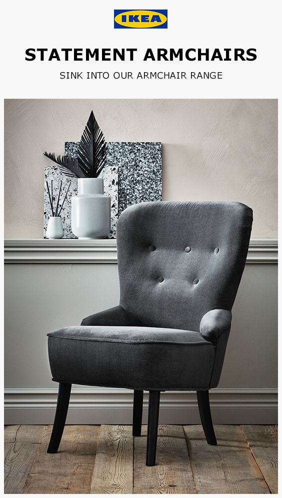 The Remsta Armchair From Ikea With Its Unique Look And Distinct Grey