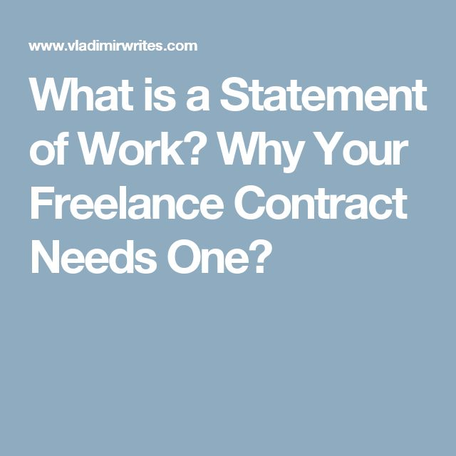 What is a Statement of Work? Why Your Freelance Contract Needs One?