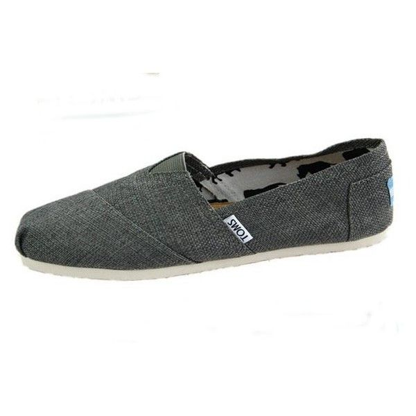 Grey Vegan Classic Toms Zapatos for Hombres