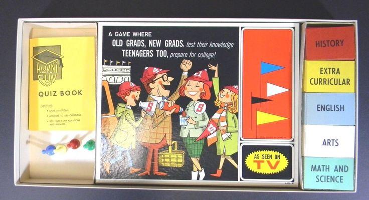 Alumni FUN Game Milton Bradley 1964 College Quiz Bowl Complete | eBay