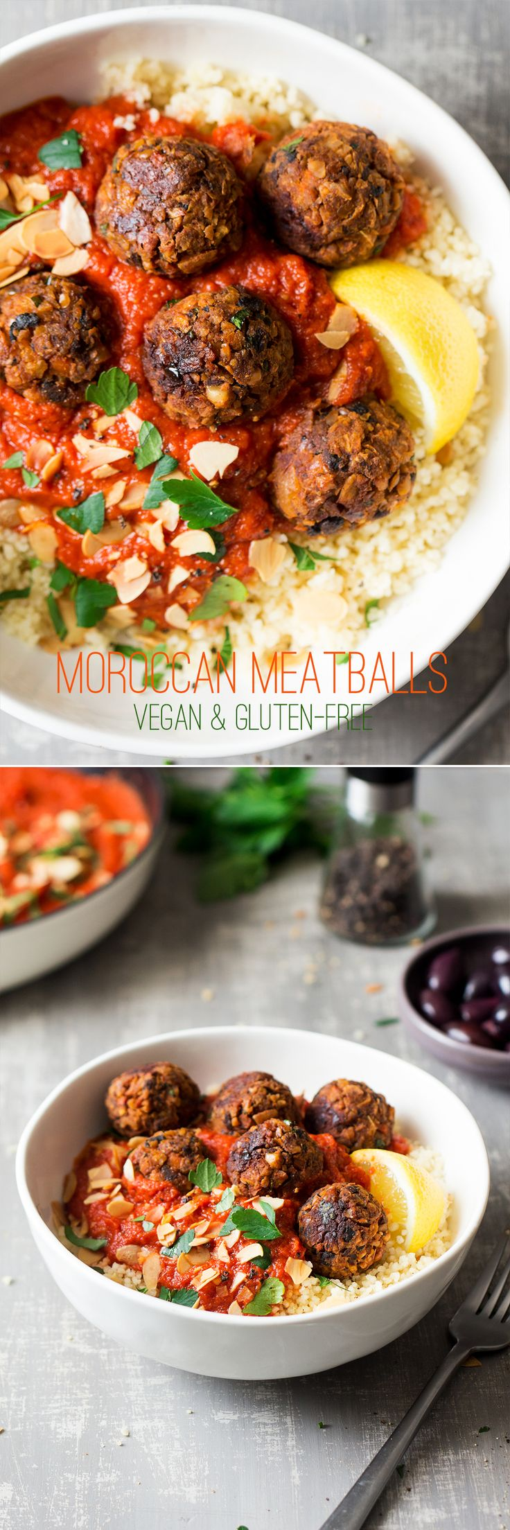 #vegan #meatballs #neatballs #veganmeatballs #glutenfree #moroccan #dinner #lunch #entree #healthy #baked #chickpeas