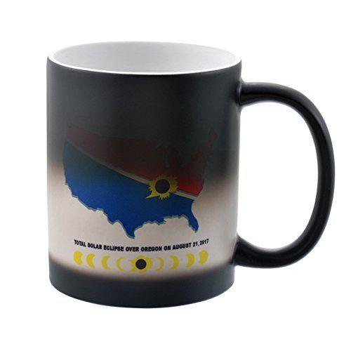 MJARTORIA Total Solar Eclipse Mug August 21 2017 Color Changing Coffee Mug Heat Sensitive Tea Cup Gift...